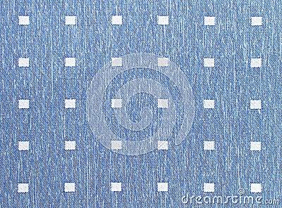 Tissu bleu de trellis de lac