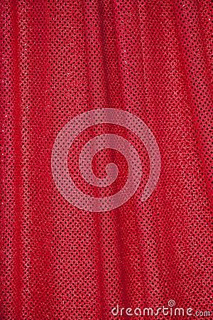 Tissu rouge avec des points