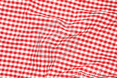 Tissu rouge de pique-nique