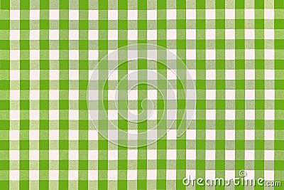 Tissu vert détaillé de pique-nique