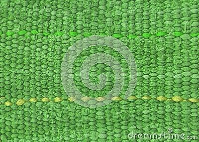 Tissu vert de ligne