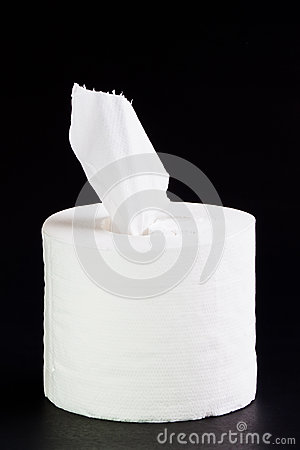 Tissue paper roll.