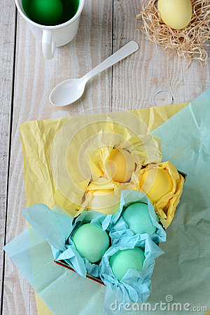 Tissue Wrapped Easter Eggs