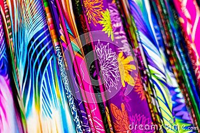 Tissus en soie color s photo stock image 40824082 - Tissus bohemes colores ...