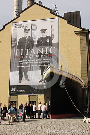 Titanic exhibition. Norrkoping. Sweden Editorial Stock Image