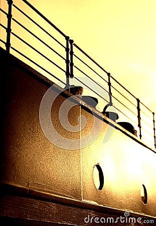 Titanic Railings & Fairlead - Sepia Version