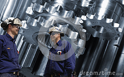 Titanium aerospace engineering parts Stock Photo