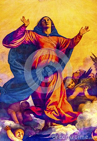 Free Titian Assumption Mary Painting Santa Maria Frari Venice Italy Royalty Free Stock Photos - 107318258