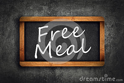 Titre de repas gratuit sur le tableau d 39 ardoise de for Tableau noir restaurant