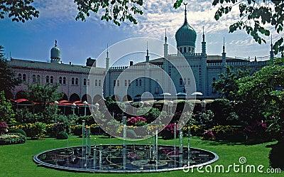 Tivoli садов copenhagen Дании