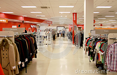 TK Maxx shop interior Editorial Photo