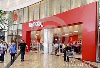 TK Maxx shop in a mall Editorial Stock Image