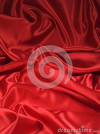 Tkaniny czerwono satin portret