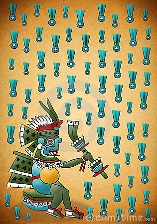 Tlaloc Mayan - Aztec deity of water and rain