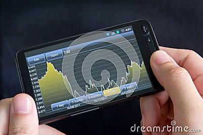 Téléphone intelligent avec le diagramme courant