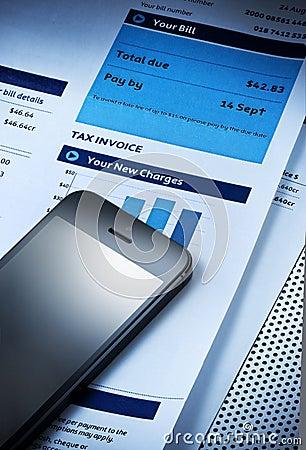 Téléphone portable Bill de frais