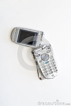 t l phone portable cass photographie stock libre de droits image 16344467. Black Bedroom Furniture Sets. Home Design Ideas