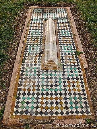 Túmulos do mosaico de Saadian em C4marraquexe.