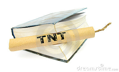 TNT dynamite stick with wick