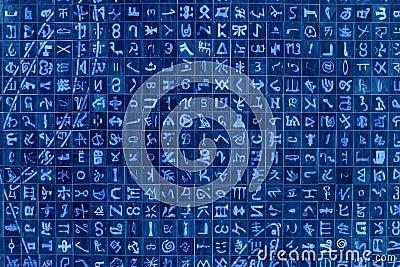 Tło abstrakcjonistyczni symbole
