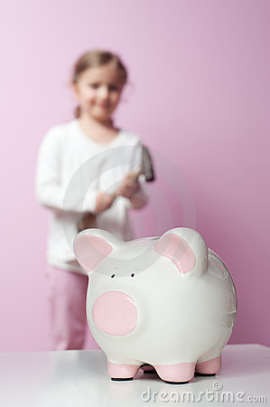 To break piggy bank