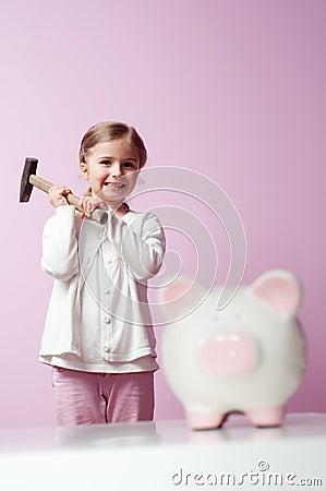 To breake piggy bank