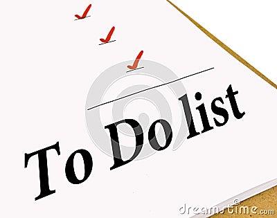 To Do Check List