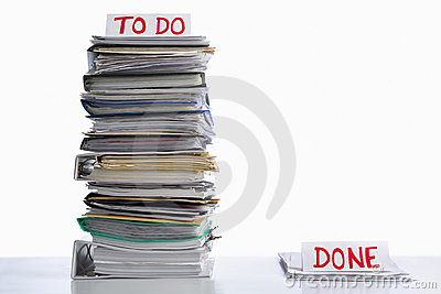 To do and done paperwork