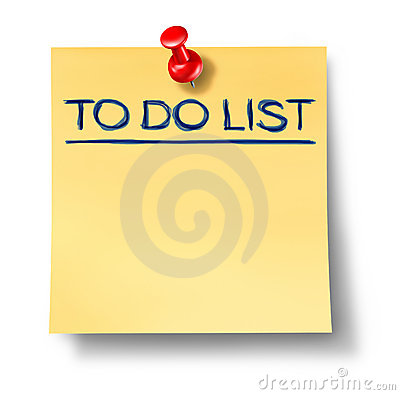 To do list blank office note isolated