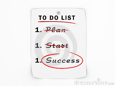 To do list business success concept