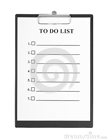 To Do List and Clipboard
