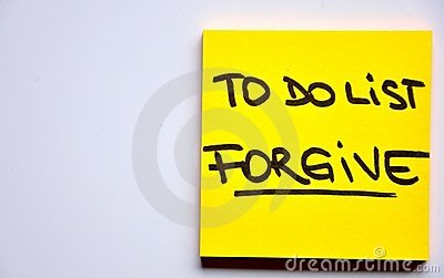 To do list concept: forgive