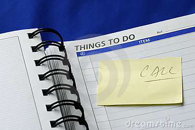 """""""To Do List"""" on the day planner"""