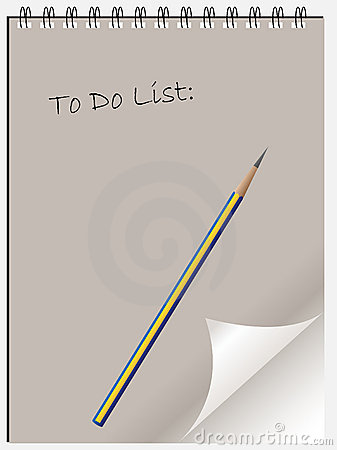 To do list notepad wtih page c
