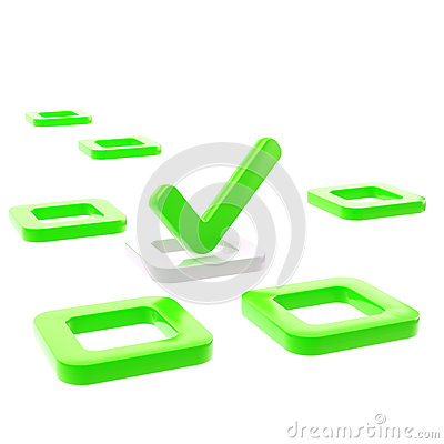 To do list, tick in green check box