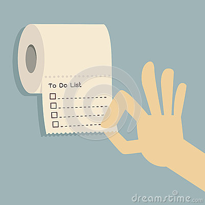 To do list on toilet paper