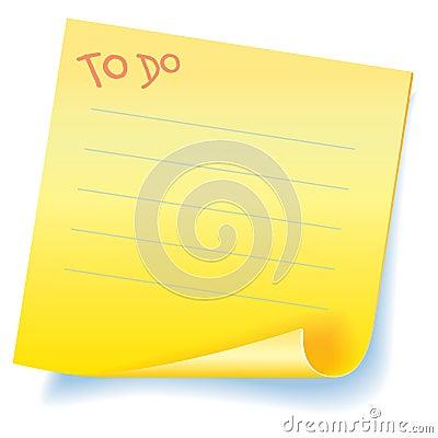 To Do - Sticker reminder