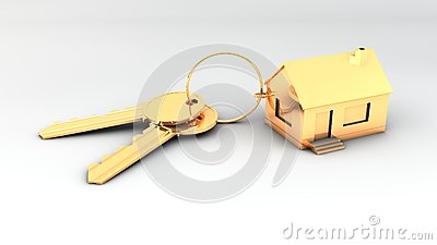 To gold keys to new house