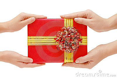 To hand a gift