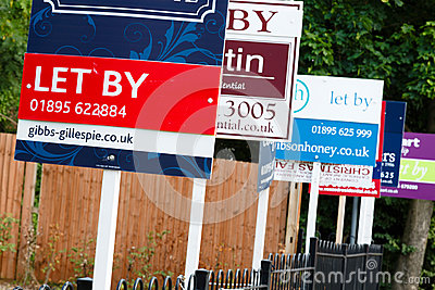 To let sign UK Editorial Stock Image
