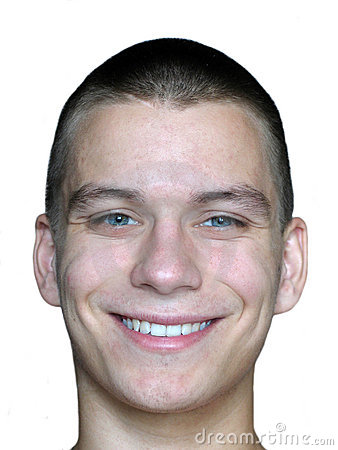 To twarz człowieka się uśmiecha