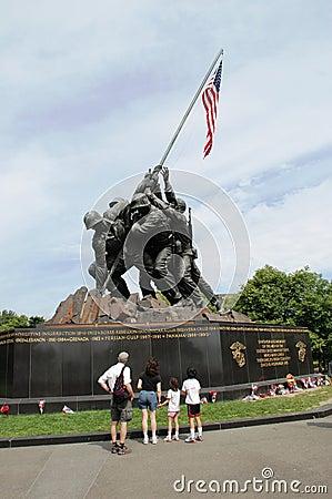 To veterans in Memorial Day Editorial Stock Photo