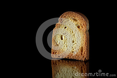 Toast on black