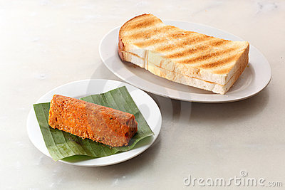 Toast bread with minced fish cake