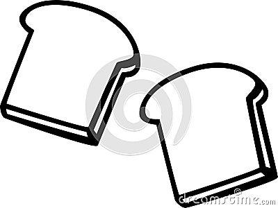 toast bread slices vector illustration
