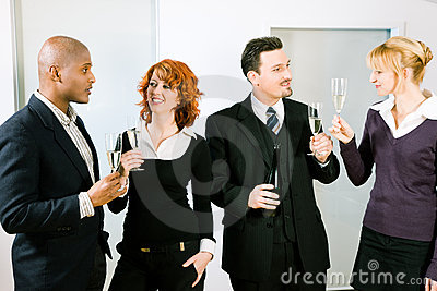 Toast with a group of people