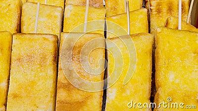 Toast on skewers