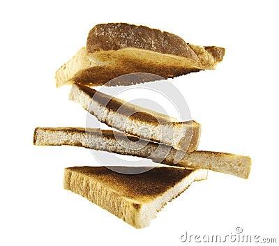 Toast slices