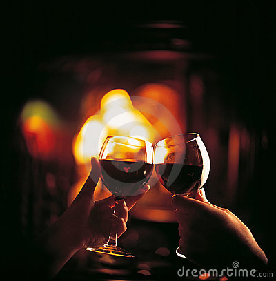 Free Toast To Toast With Red Wine Stock Photography - 16723182