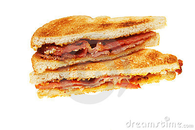 Toasted bacon sandwich